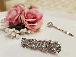 Ozdoby do vlasov - Diamantové kvietky - 12889291_