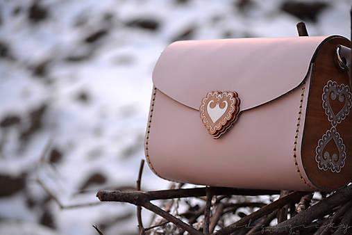 Kožená kabelka Zuzička (Pudrová lesklá)