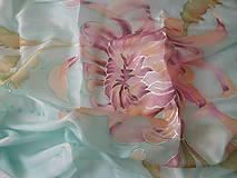 Šatky - hodvábna šatka -chryzantéma - 12889500_