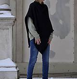 Iné oblečenie - Pletené pončo...antracit - 12887949_