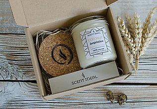 Svietidlá a sviečky - Kokosové pokušenie, Sójová sviečka z vosku, Sviečka pre ňu, Darčeková sviečka, Originálny darček na Valentína - 12885244_