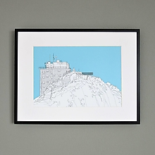 Grafika - Lomnický štít (print) - 12888193_