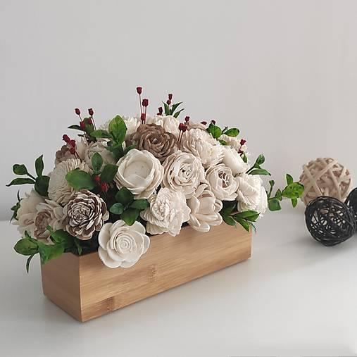 Dekorácie - Dekorácia z prírodných kvetov  - 12887409_