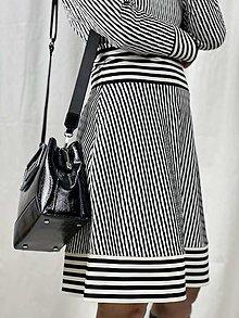 """Šaty - Úpletové šaty """"black&white - 12885327_"""