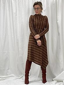 Šaty - Úpletové šaty s prúžkom - 12888895_