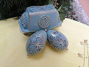 Dekorácie - vajíčka v darčekovom balení - 12887226_