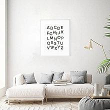 Obrázky - Plagát Abeceda - Monstera A3 - 12893460_