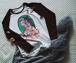 Tričká - Dievča s mačkou/ typ Sol´S - 12892974_