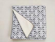 Úžitkový textil - RUNO SHOP 100% Ovčie runo Deka vlnená Baranček Folklór šedý - 12891961_