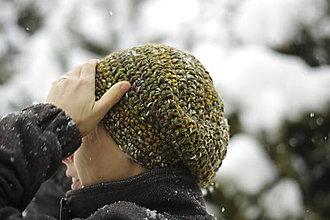 Čiapky - zimná zeleň:) čiapka - 12892605_