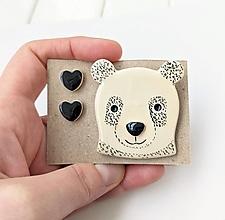Sady šperkov - Keramický set (Kamoš panda) - 12894259_