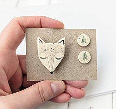 Sady šperkov - Keramický set (V zasneženom lese) - 12894267_