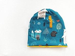 "Detské čiapky - Dvojvrstvová čiapka""happy animals"" - 12891797_"