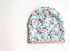 "Detské čiapky - Dvojvrstvová čiapka""šípková ruženka"" - 12891806_"