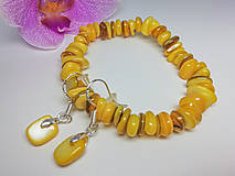 Sady šperkov - Súprava z hlbín mora žltá  - 12892834_