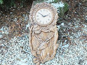 Hodiny - Vyrezávané hodiny (35 x 70 - Hnedá) - 12890537_