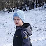 Detské čiapky - simply svetlomodrá - 12892315_
