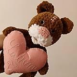 Hračky - Háčkovaný medvedík - Ľúbim Ťa - 12894138_