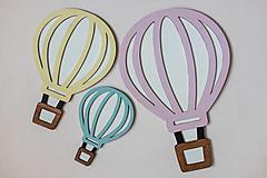 Detské doplnky - Drevená dekorácia balóny - 12893477_