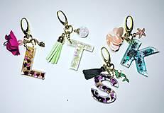Kľúčenky - Kľúčenka písmeno - 12893519_