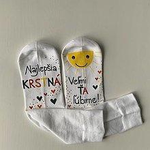 Obuv - Maľované ponožky pre najlepšiu /výnimočnú KRSTNÚ V JESENNÝCH FARBÁCH - 12891190_