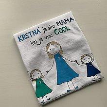 Oblečenie - Originálne maľované tričko s 3 postavičkami (krstná + 2 dievčatá) - 12894355_