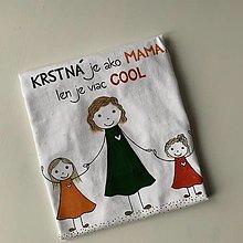 Oblečenie - Originálne maľované tričko s 3 postavičkami (krstná + 2 dievčatá) - 12894376_