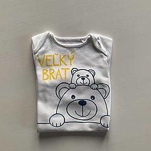 """Detské oblečenie - Maľovné body s macíkmi a nápisom """"VEĽKÝ BRAT"""" - 12894421_"""