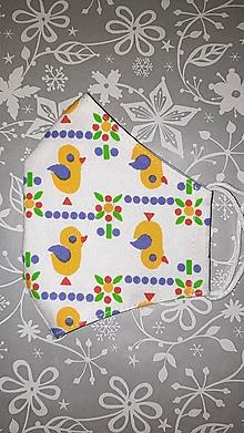 Rúška - Detské rúško Kuriatka s antibakteriálnou byvlnou - 12894821_