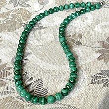Šperky - Natural AA Malachite Beaded Necklace / Náhrdelník s prírodným malachitom AA - 12895040_