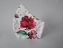 Rúška - VÝPREDAJ dámske dizajnové rúško prémiová bavlna antibakteriálne s časticami striebra dvojvrstvové tvarované - 12894660_