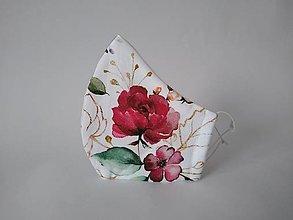 Rúška - AKCIA dámske dizajnové rúško prémiová bavlna antibakteriálne s časticami striebra dvojvrstvové tvarované - 12894660_