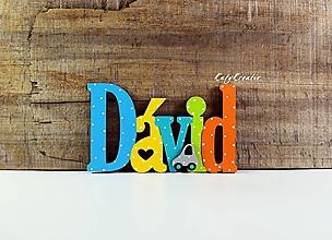 Detské doplnky - Drevená menovka - 12895813_
