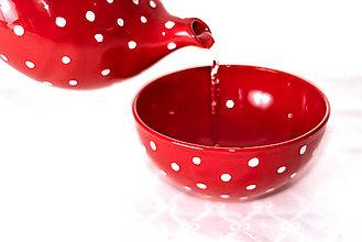 Nádoby - Červená musli miska - 12895892_
