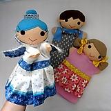 Hračky - Ľadová kráľovná - sada maňušiek na ruku - 12897821_