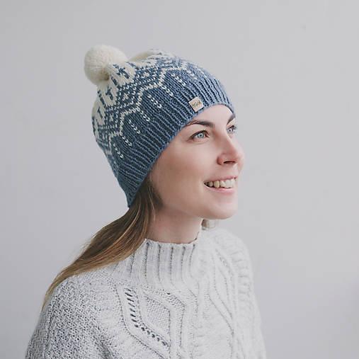 modro-smotanová s nórskym vzorom