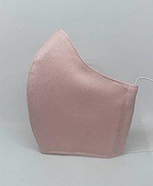 Rúška - Tvarované ELEGANCE rúško na tvár-ružové - 12897109_