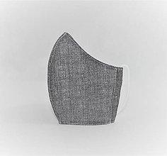 Rúška - Tvarované rúško na tvár- šedá s režným efektom - 12897146_