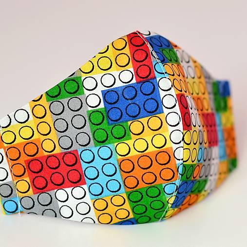 LEGO rúško so striebrom dvojité na filter - 4 veľkosti