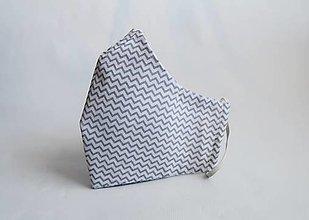 Rúška - Dvojvrstvové tvarované rúško - 12895147_