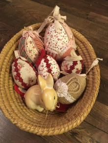 Dekorácie - Patchworkové veľkonočné vajíčka - 12897625_