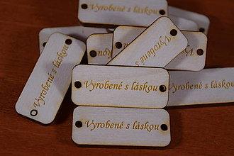 Galantéria - Štitok visačka na želanie vyrobené s láskou drevený - 12895214_