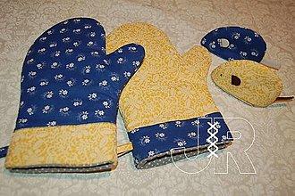 Úžitkový textil - modro žlté - 12898112_