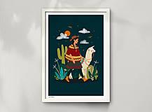 Grafika - Lama - umělecký tisk - 12901148_