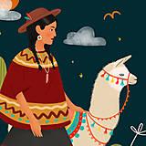 Grafika - Lama - umělecký tisk - 12901151_