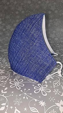 Rúška - Pánske rúško Režné modré s antibakteriálnou bavlnou - 12899789_