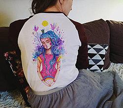 Tričká - Dievča s dúhou/back verzia/ typ Sol´S - 12900380_