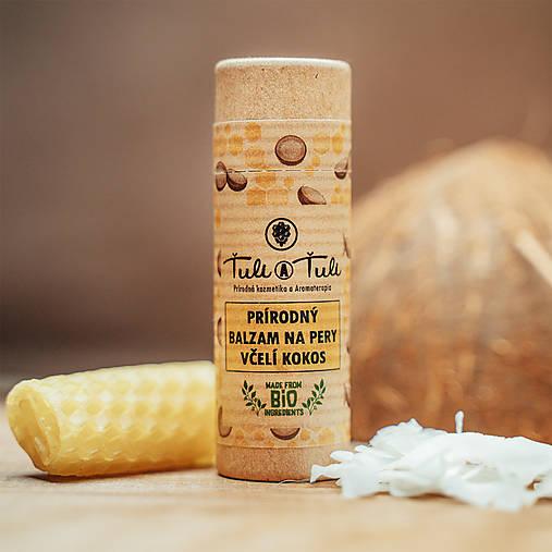 Drogéria -  Prírodný balzam na pery Včelí kokos  - 12899827_