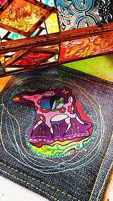 Úžitkový textil - Srnka z čarovného lesa, podložka pod šálku - 12899770_
