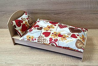 Hračky - Macíkové perinky so srdiečkami pre Barbie - 12902919_